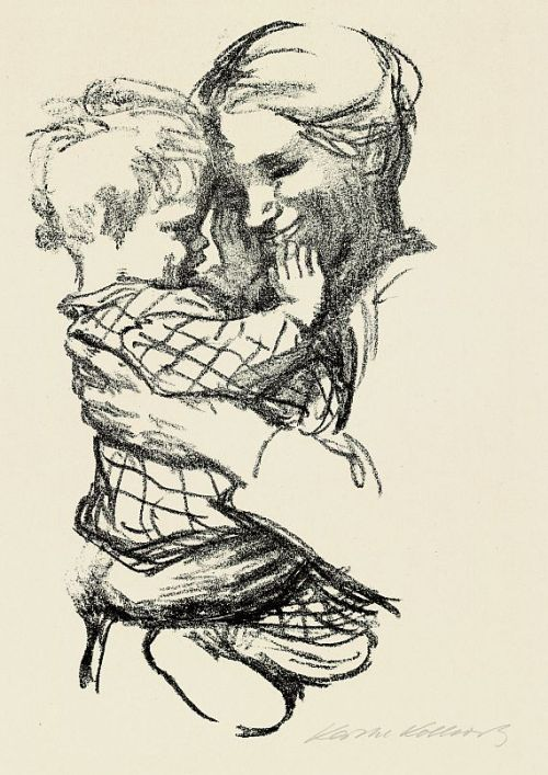 Mother with a Child in her Arms, by Kathe Kollwitz