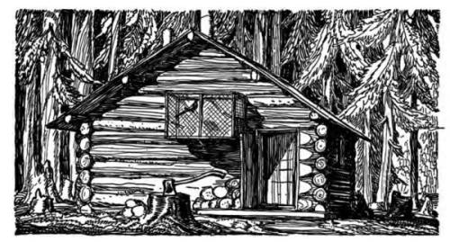 Cabin by Rockwell Kent from his book Wilderness: A Journal of Quiet Adventure in Alaska