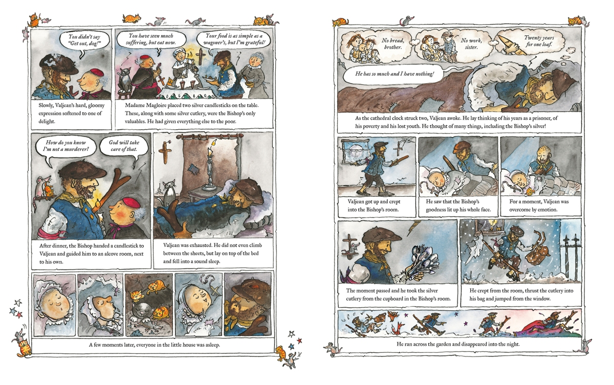 les miserables retold by marcia wiliams illustration2