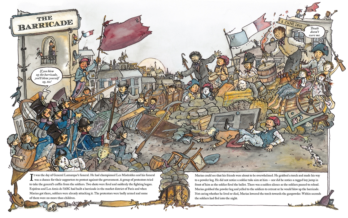 les miserables retold by marcia williams illustration3