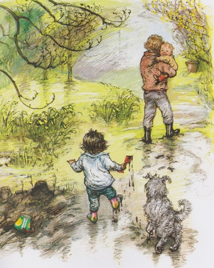 out and about illustration shirley hughes