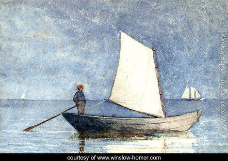 Sailing a Dory by Winslow Homer