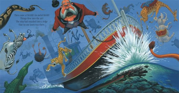 the circus ship illustration chris van dusen