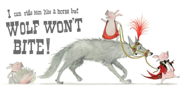 wolf won't bite illustration emily gravett