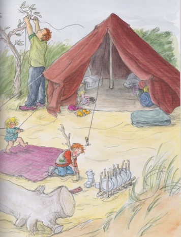 eddie's tent illustration sarah garland