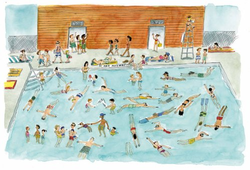 swimming swimming illustration gary clements