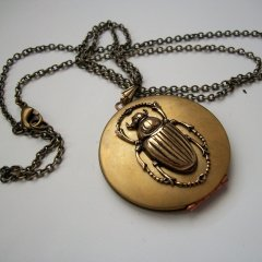 gold bug pendant