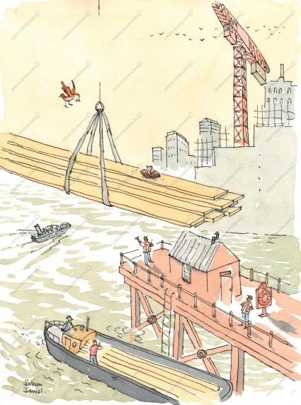 George Flies South illustration Simon James