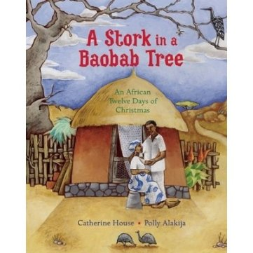 a stork in a baobab tree cover image
