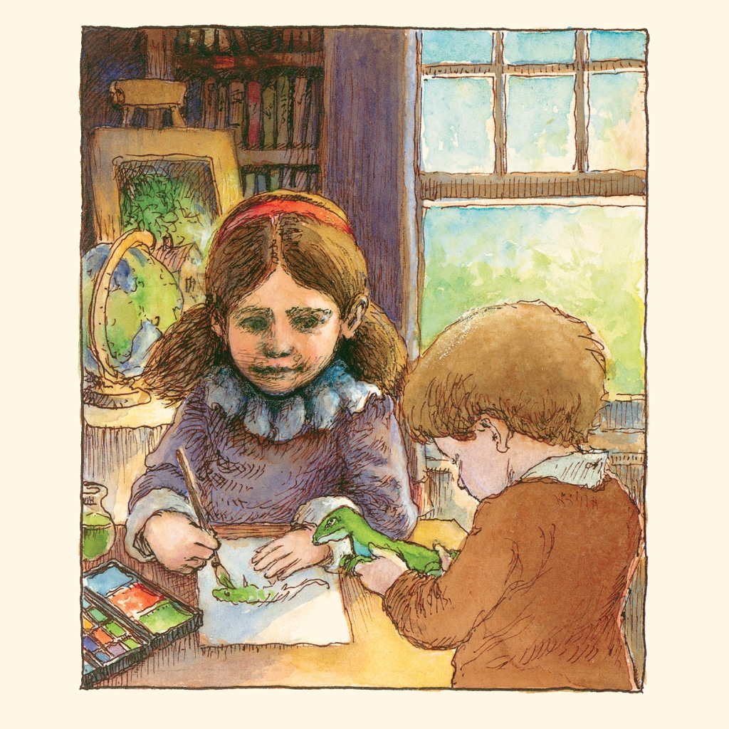 beatrix potter and her paint box illustration david mcphail