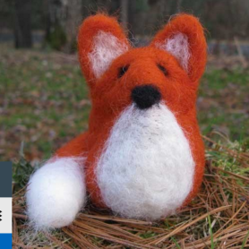 friendly fox needle felting kit