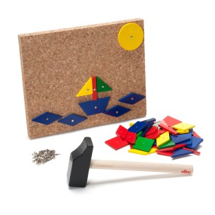 geometric shapes tack board
