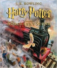 harry potter and the sorcerer's stone illustrated edition cover image
