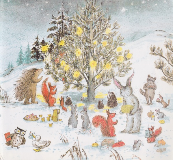 harvey hare's christmas illustration bernadette watts