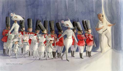 tallulah's nutcracker illustration alexandra boiger