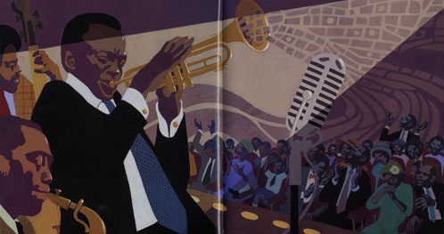 JazzOnASaturdayNight illustration leo and diane dillon