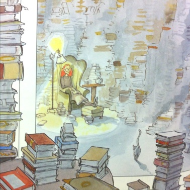 the library illustration detail by david small