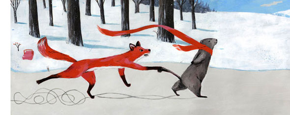 brownie groundhog and the february fox illustration carmen segovia