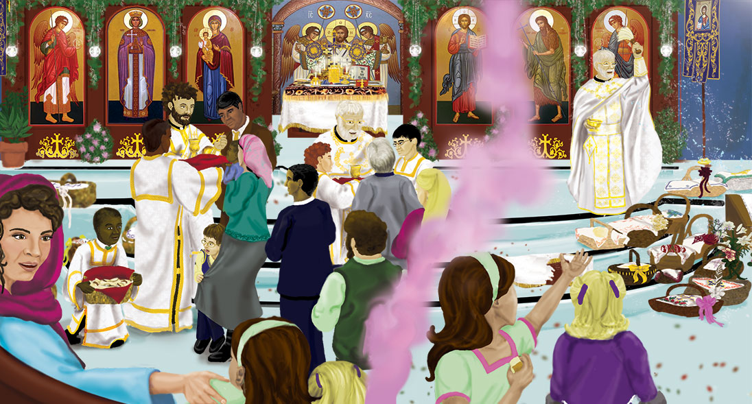 catherine's pascha illustration R.J.Hughes