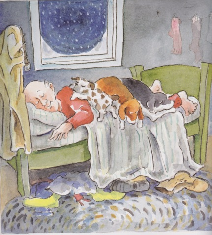 the five dog night illustration eileen christelow