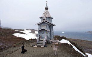 How cool is this -- Trinity Church on King George Island, Antarctica!