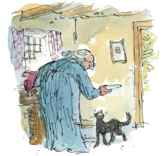 One of Quentin Blake's illustrations for The Tale of Kitty in Boots.