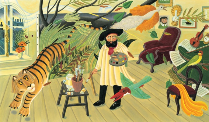 the fantastic jungles of henri rousseau illustration amanda hall