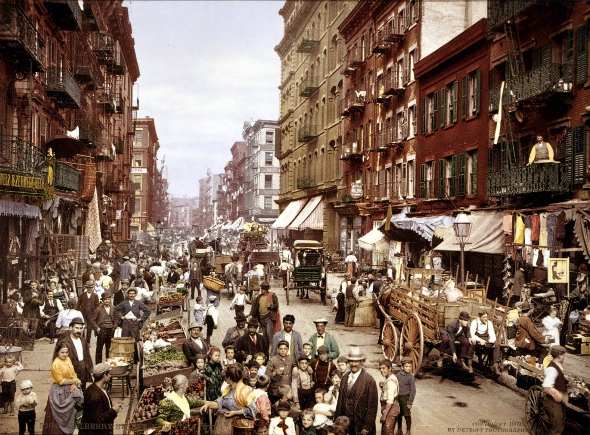 Old Mulberry Street, NYC from italianaware (dot) com