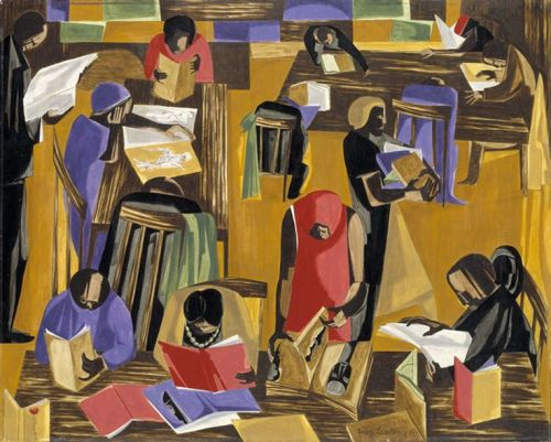 the library by jacob lawrence (1960)