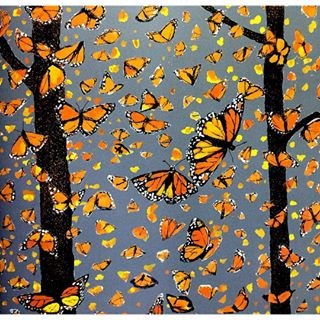 traveling butterflies illustration detail by susumu shingu