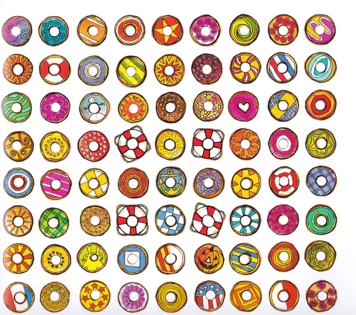 the hole story of the doughnut endpapers by vincent x kirsch