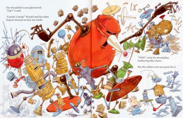 wendel and the robots interior chris riddell