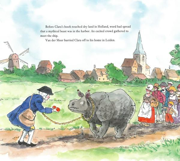 Clara the mostly true story of the rhinoceros interior by emily arnold mccully