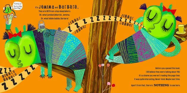 the big monster snory book interior by leigh hodgkinson