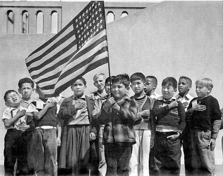 Japanese-American children in Little Tokyo, L.A.