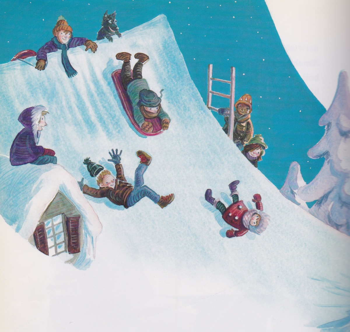 pippi-longstockings-after-christmas-party-illustration-detail-michael-chesworth