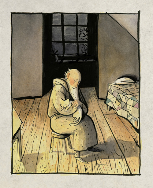 the-white-cat-and-the-monk-illustration-sydney-smith