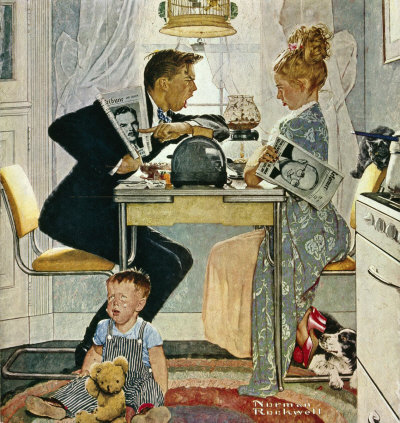 Breakfast Table Political Argument by Norman Rockwell