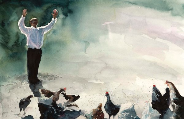 preaching-to-the-chickens-illustration-e-b-lewis