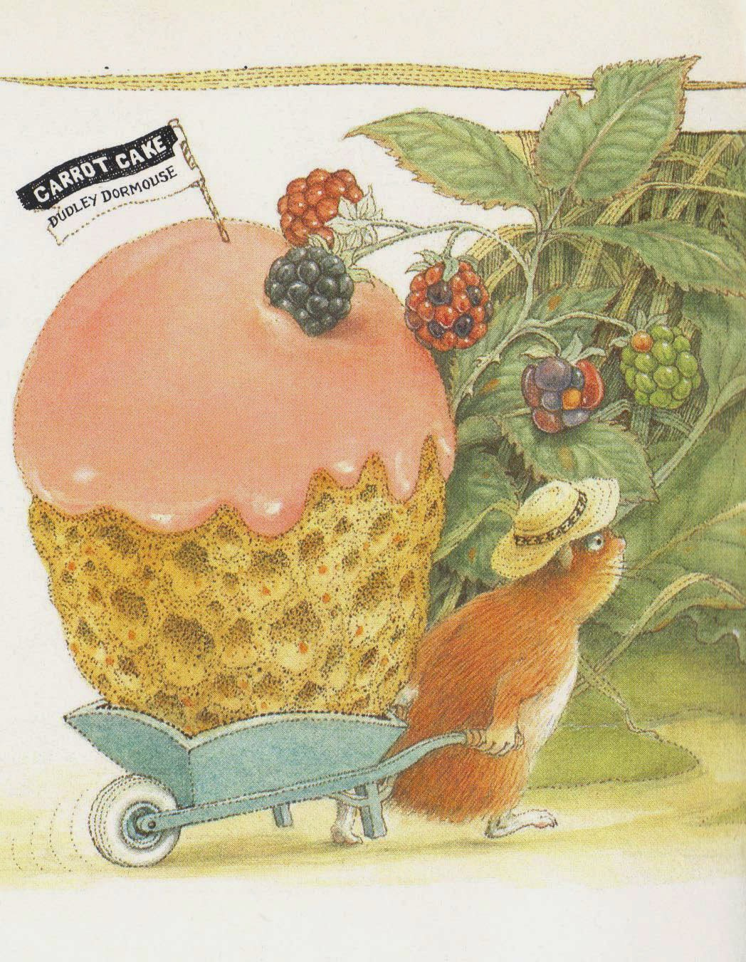 dudley bakes a cake illustration detail by Peter Cross