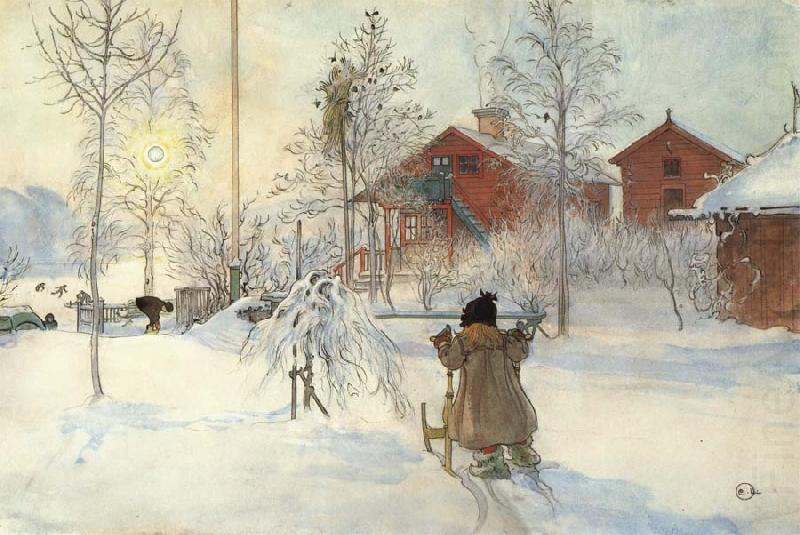 Carl Larsson The Yard and Washhouse