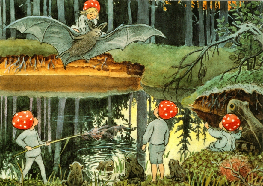 children of the forest illustration2 by elsa beskow