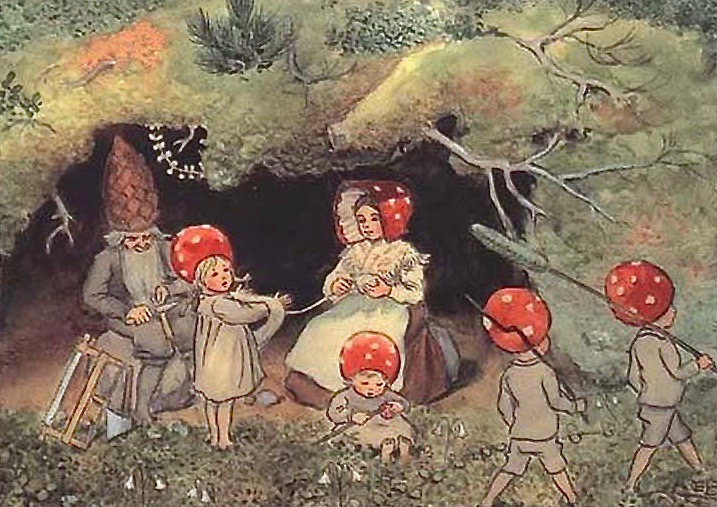 children of the forest illustrations by elsa beskow