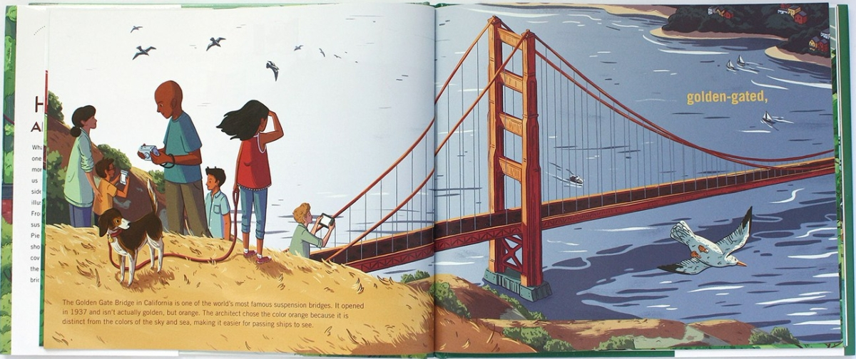 a book of bridges interior by Keely and Krampien