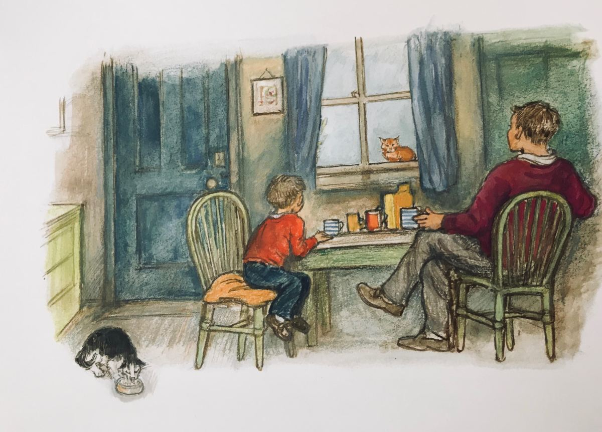 alfie and dad illustration by Shirley Hughes