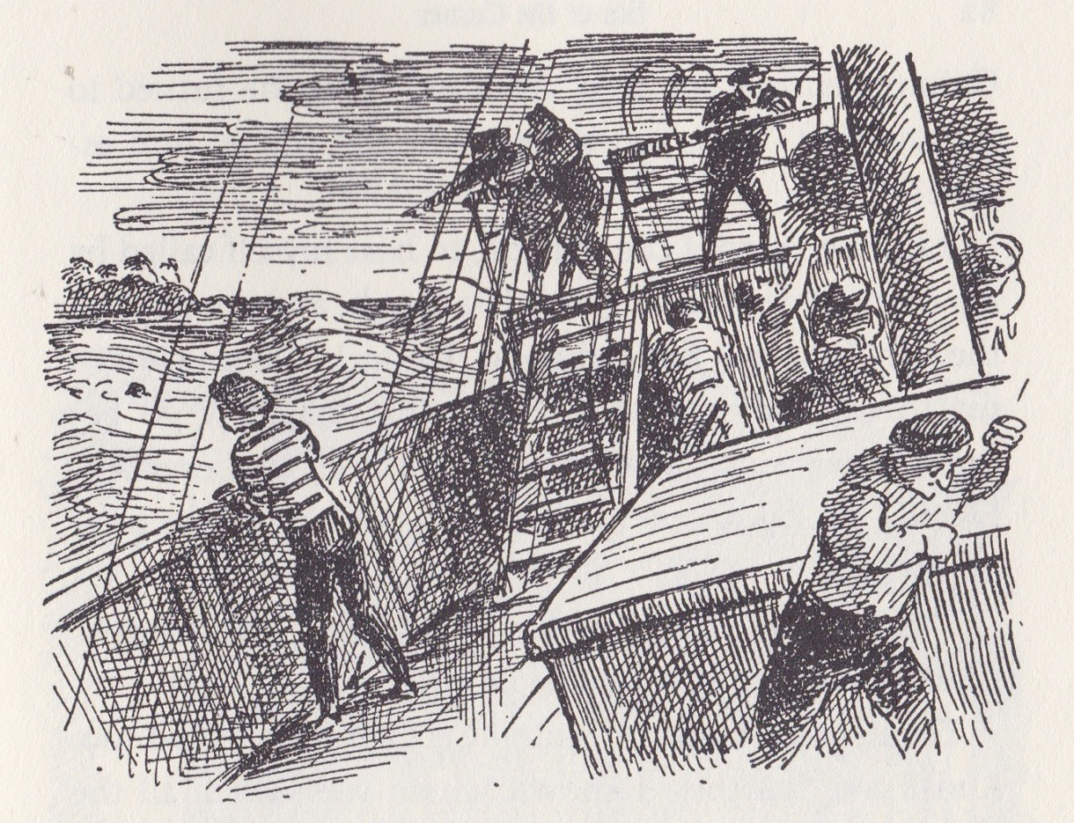 jim at the corner illustration by edward ardizzone