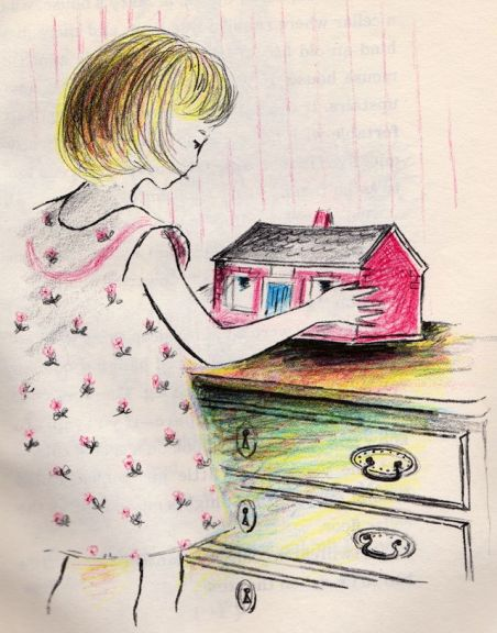 mouse house illustration by Adrienne Adams