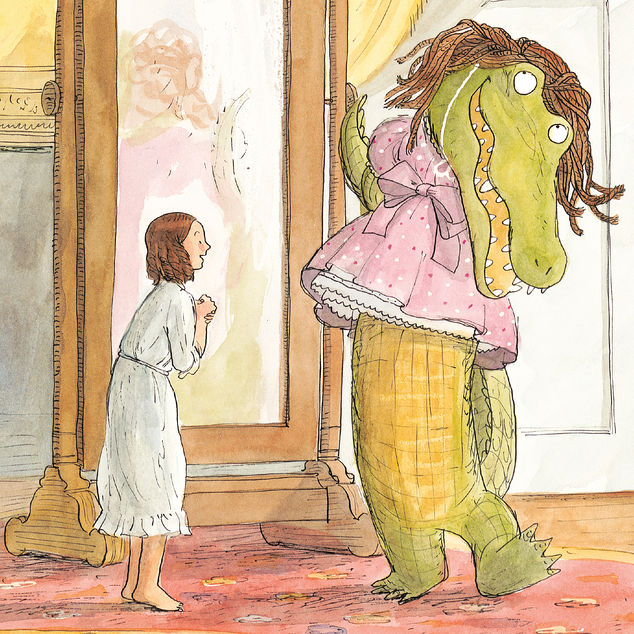 princess cora and the crocodile illustration by Brian Floca