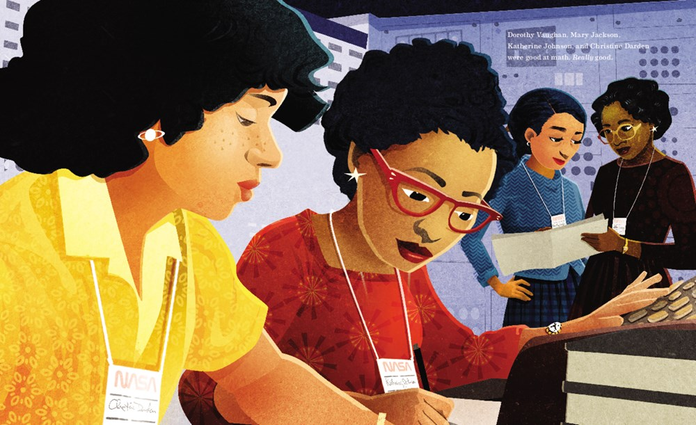 hidden figures interior by Shetterly and Freeman