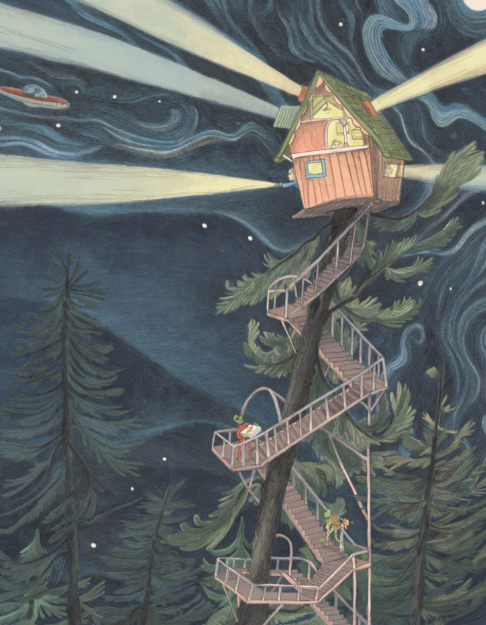 everything you need for a treehouse illustration by Emily Hughes